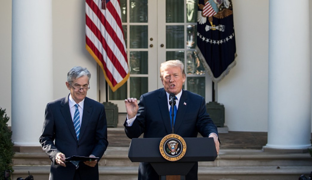 """Foto: Trump dijo que a pesar de la Fed están """"ganando"""", 31 de julio de 2019, (Getty Images, archivo)"""