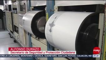 Foto: Gobierno Federal Centro Alterno Monitoreo Sismológico 18 Julio 2019
