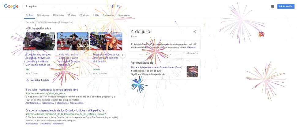 foto google 4 de julio