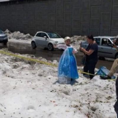 FOTOS: Granizada en Guadalajara (aparece princesa de Frozen)