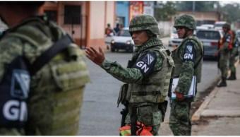 Elementos de la Guardia Nacional desplegados