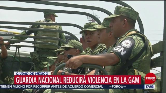 Guardia Nacional opera en alcaldía Gustavo A. Madero