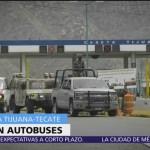 Guardia Nacional realiza revisiones en la carretera Tijuana-Tecate