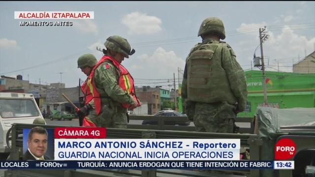 FOTO: Guardia Nacional realiza rondines en Iztapalapa