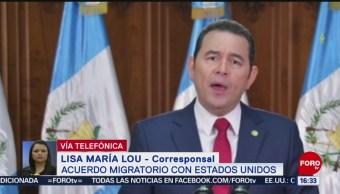 Foto: Guatemala Firma Acuerdo Migratorio Estados Unidos 26 Julio 2019
