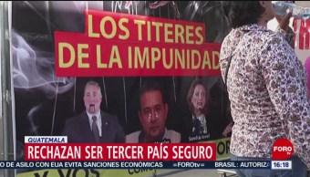 """FOTO: Guatemaltecos marchan para rechazar acuerdo de """"tercer país seguro"""", 28 Julio 2019"""