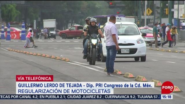 Foto: Guillermo Lerdo De Tejada Habla Regularización Motos CDMX
