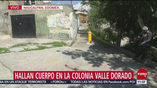 Hallan cadáver de un hombre en Naucalpan, Edomex