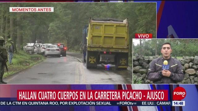 Foto: Cuerpos Carretera Picacho-Ajusco 26 Julio 2019