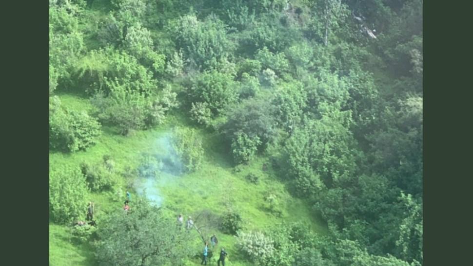 Foto: Desplome de helicóptero en Michoacán, 24 de julio de 2019, México
