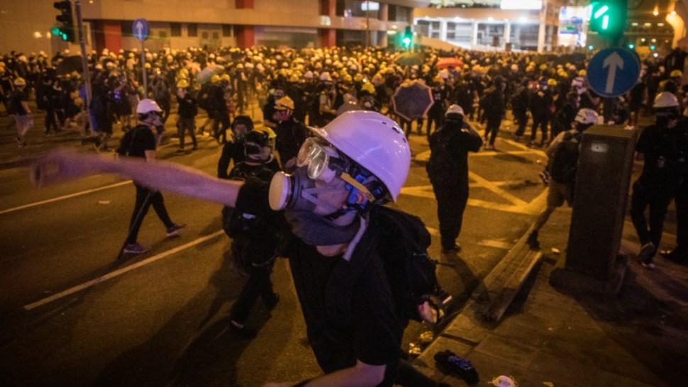 Foto: Se registraron enfrentamientos entre la policía y algunos manifestantes, 21 julio 2019