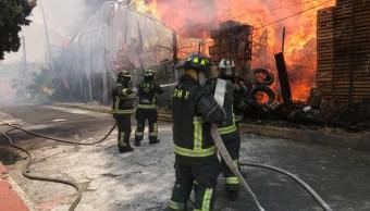 Foto: incendio en bodega de la Central de Abasto, 8 de julio 2019. S. Servín