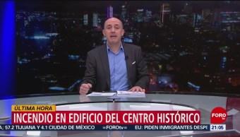 Foto: Incendio Edificio Centro Histórico Cdmx Hoy 5 Julio 2019