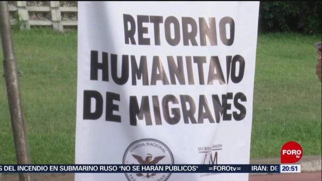 Foto: Instalan Módulos Retorno Humanitario Migrantes Río Bravo 3 Julio 2019