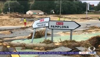 Inundaciones en Navarra, España, dejan un muerto