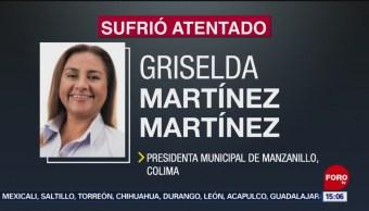 FOTO: Investigan ataque a alcaldesa de Manzanillo, Colima, 27 Julio 2019