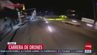 FOTO: Italia lleva a cabo una carrera de drones, 14 Julio 2019