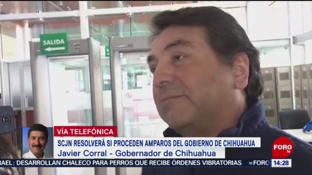 FOTO: Javier Corral habla del caso de Alejandro Gutiérrez