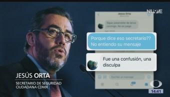 Jesús Orta amenazó Twitter periodista Carlos Jiménez
