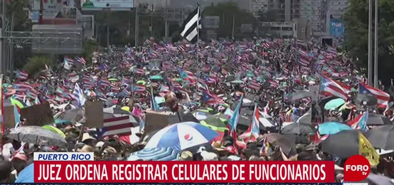 Juez ordena registrar teléfonos celulares de funcionarios en Puerto Rico