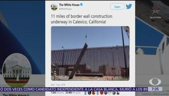 La Casa Blanca difunde avance en construcción de muro en Calexico, California
