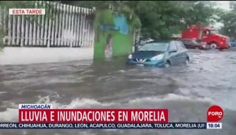 Lluvia e inundaciones en Morelia