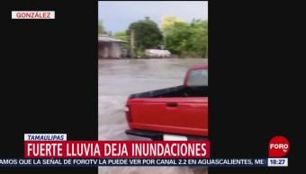 Foto: Lluvia transformas las calles en ríos, en Tamaulipas