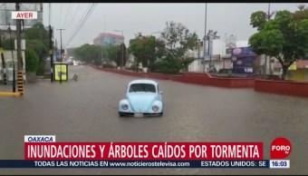 Lluvias dejan afectaciones en Jalisco, Oaxaca y Michoacán