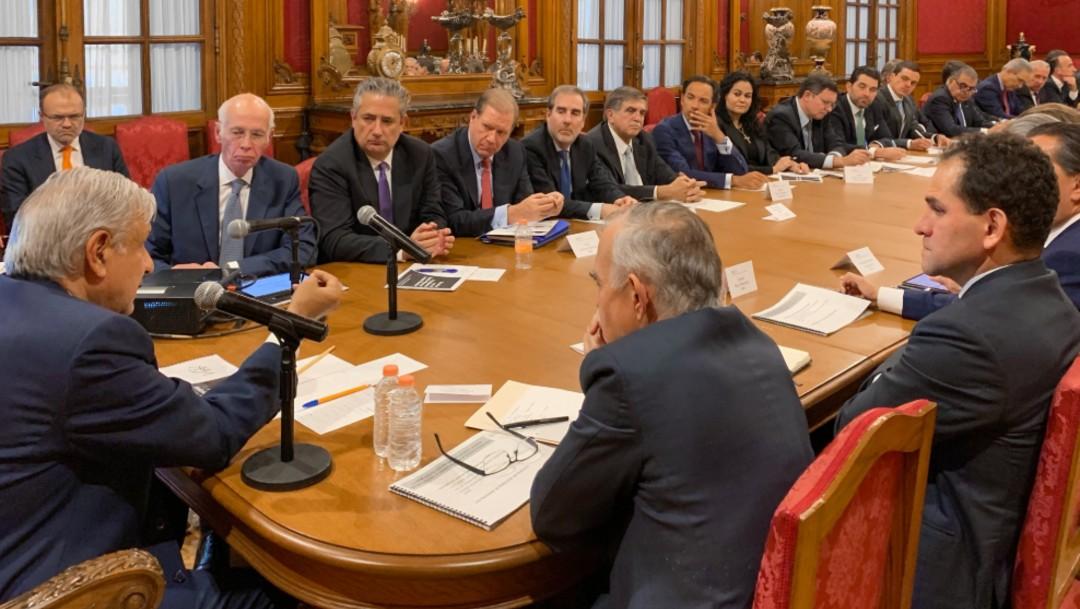 Foto: AMLO con miembros de la Asociación de Bancos de México, 23 de julio de 2019, Ciudad de México