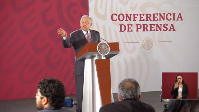 Foto: El presidente López Obrador en conferencia de prensa, 24 de julio de 2019, Ciudad de México
