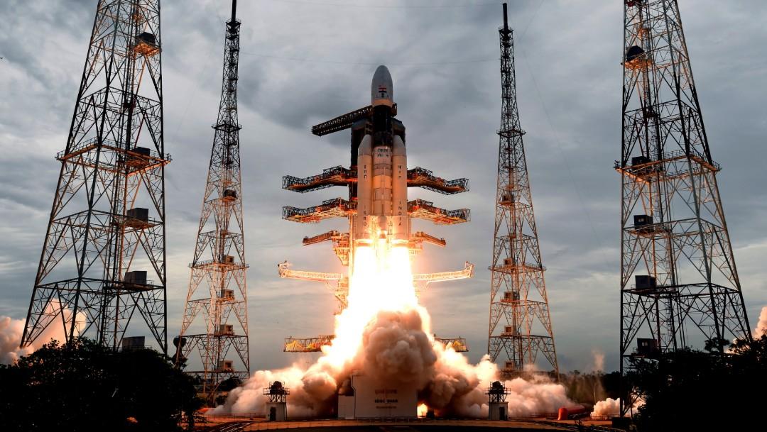 Foto: India lanza misión al polo sur de la Luna, 22 de julio de 2019, India
