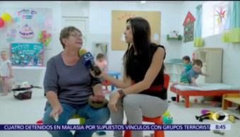 Maestra explica cómo niños usan refugio contra bombas en Israel