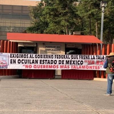 Manifestantes bloquean los accesos a la Cámara de Diputados