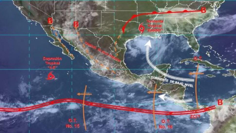 Foto: Imagen de fenómenos meteorológicos significativos de las 06:00 horas, 13 julio 2019
