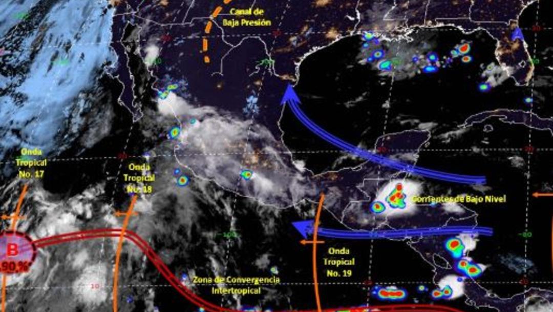 Foto: Imagen de fenómenos meteorológicos significativos de las 06:00 horas, 21 julio 2019
