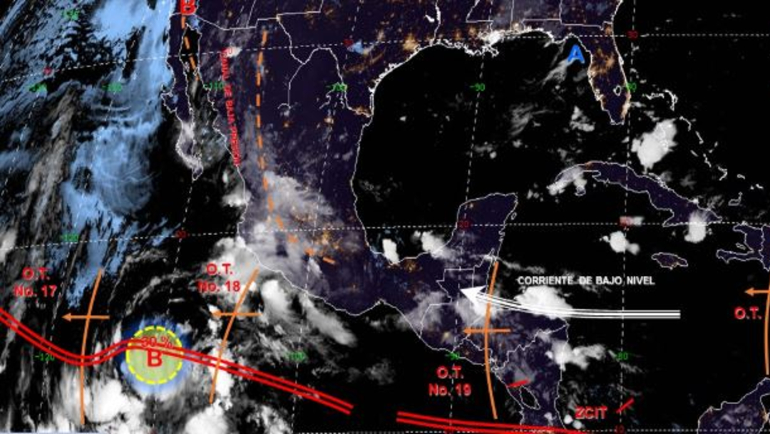 Foto: Imagen de fenómenos meteorológicos significativos de las 06:00 horas, 20 julio 2019