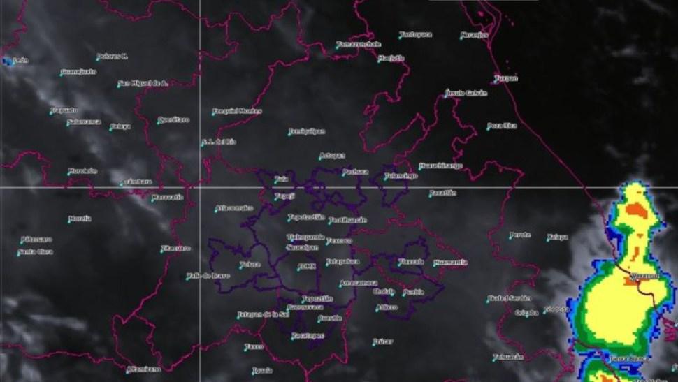 Foto: La imagen de satélite muestra cielo parcialmente nublado en el centro del país, 6 julio 2019