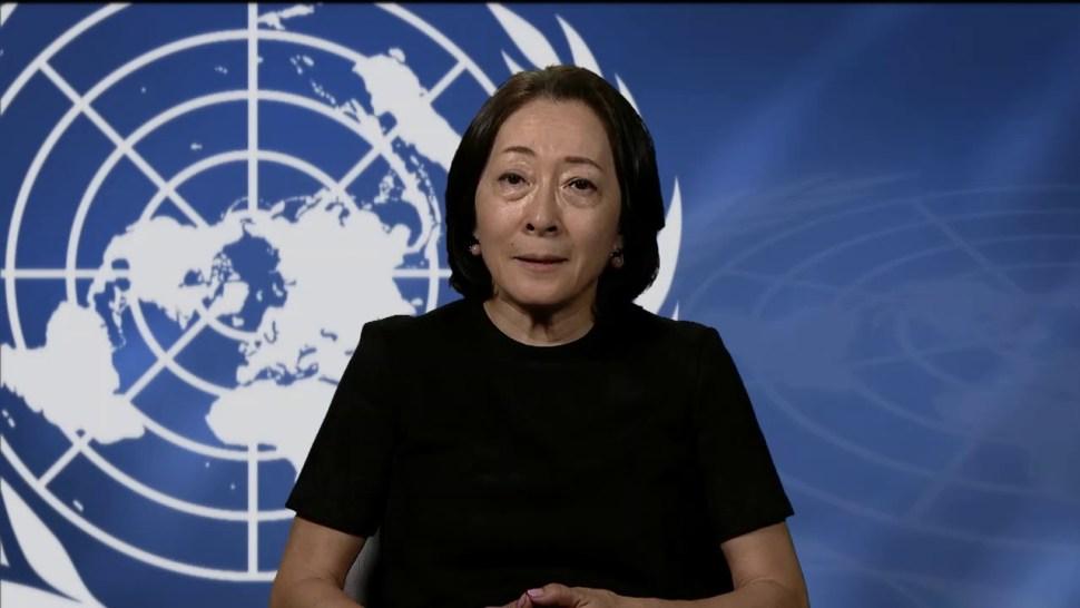 Foto: Mami Mizutori, representante especial del secretario general de las Naciones Unidas, el 7 de julio de 2019 (YouTube)