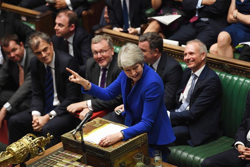 Foto May protagoniza duro choque en última sesión en el Parlamento 24 julio 2019