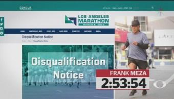 Foto: Maratonista Suicida Descalificado Maratón Los Ángeles 8 Julio 2019