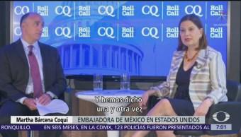 México no está listo para ser tercer país seguro, dice embajadora Bárcena