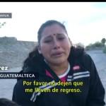 Migrante ruega a Guardia Nacional que la dejen cruzar a EEUU