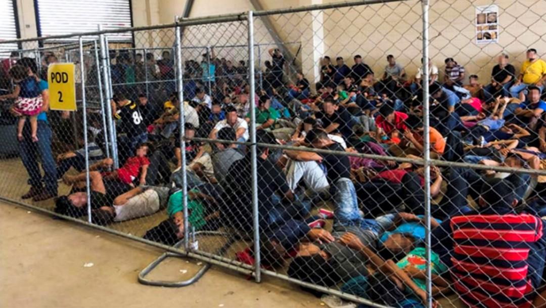 Foto: Migrantes hacinados en centro de detención en Texas, 11 de junio de 2019, Estados Unidos