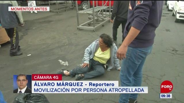 Montacargas atropella a mujer en zona comercial en Neza