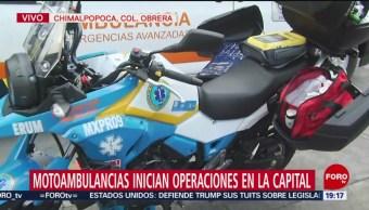 Foto: Motoambulancias Inician Operaciones Cdmx 15 Julio 2019
