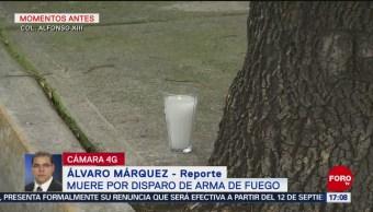 Muere hombre por disparo de arma de fuego CDMX