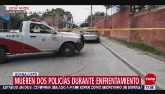 Mueren policías en balacera en San Miguel Allende