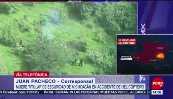 Muerte de secretario de seguridad de Michoacán vulnera la seguridad del estado