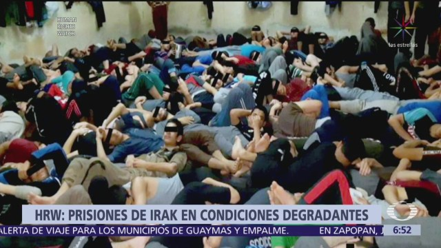 Muestran imágenes de la situación de presos en Irak
