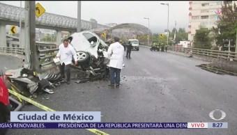 Mujer muere en accidente vial en el segundo piso de Periférico